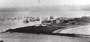 Durban Harbour in the 1800s