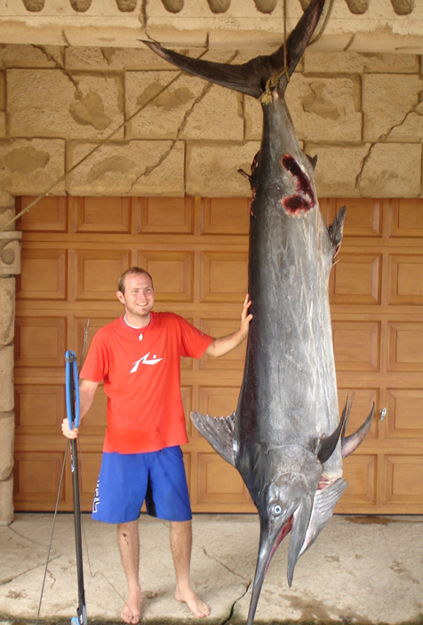 Mark with his marlin